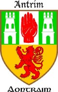 Click for larger image. Antrim Northern Ireland coat of arms