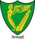 Click for larger image. Armagh Northern Ireland coat of arms