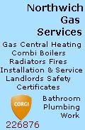 Northwich Gas Services, Northwich Gas Services - Gas Central Heating Engineers Corgi Registered - Northwich Cheshire, Cheshire Crewe