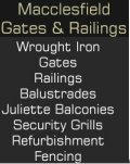 Macclesfield Gates & Railings, Macclesfield Gates and Railings - Gates Railings Balconies Balustrades Security Grills Hand Rails Juliette Balcony Screens Shutters Cheshire, Lancashire Leigh