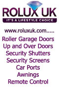 Rolux Uk Limited, Roller Garage Doors Security Shutters Screens Car Ports Awnings Domestic Commercial Cheshire Staffordshire Shropshire North Wales UK, Gwynedd Harlech
