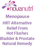 Novanutri UK, Novanutri NHSteps FX Menopause Food Supplement Capsules Alternative to HRT ERT Relief from Hot Flushes Night Sweats Mood Swings Prostate and Bladder Conditions, Perthshire