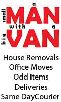 A Small Man With A Big Van, Removals House Small Office Deliveries Collections A Small Man With A Big Van Part Moves Odd Items Congleton Cheshire, Staffordshire Eccleshall