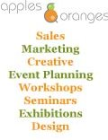 Apples and Oranges, Sales and Marketing Agency Events Planning Organising Workshops Seminars Exhibitions Highbridge Somerset, Devon Honiton