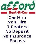 Afford Rent-a-Car, Afford Rent-a-Car - Car Hire Van Hire MPV's Mini Bus Light Truck Rental Stoke-on-Trent Staffordshire , Cheshire Crewe