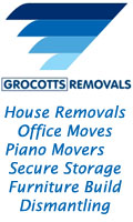 Grocotts Removals, Grocotts House Office Home Removals Secure Storage Piano Movers Furniture Dismantling Reassembly Stoke on Trent Staffordshire Crewe Cheshire UK, Staffordshire Burntwood