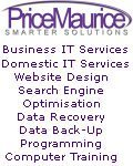 PriceMaurice Limited, PriceMaurice - Business Domestic IT Support Data Backup Recovery Search Engine Optimisation Computer Training Llangollen Denbighshire North Wales, Cheshire Tarporley