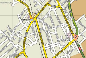 The Carpet Gallery (Wirral) map showroom Bebington & The Wirral.