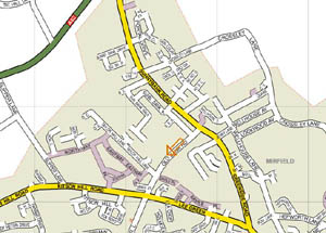 Flooring 4 You location map Mirfield,West Yorkshire.