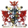 Click for larger image. Denbighshire Wales coat of arms