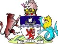 Click for larger image. Devon England coat of arms
