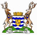 Click for larger image. Hertfordshire England coat of arms