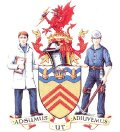 Click for larger image. Rhondda Cynon Taff Wales coat of arms