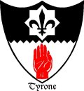 Click for larger image. Tyrone Northern Ireland coat of arms